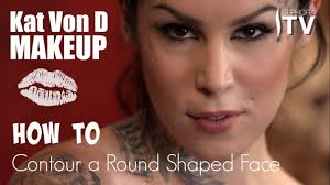 kat von d makeup how to contour a round face shape using everlasting bronzer and blush