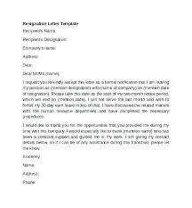 Letters Of Resignation Template Resign Letter Template Atlasapp Co