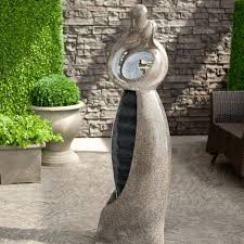 artmada embrace water fountain with led light