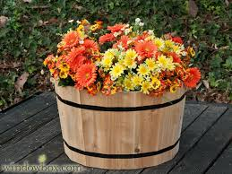 interior 24 cedar half whiskey barrel planter wooden planters pots authentic flower pot primary 6