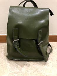 olive green leather little backpack women s fashion bags wallets backpacks on carou