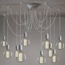 white modern chic diy loft spider chandelier multi pendant light ceiling lamp