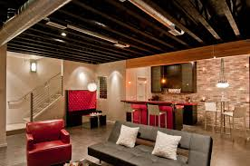 basement ideas with low ceilings. Plain Ceilings Attractive Basement Remodel Ideas Low Ceilings On With