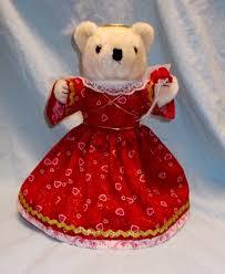 Teddy Bear Display Stands Red Valentine Angel Bear Valentine Teddy Bear on Display Stand 65