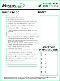 Move Checklist Template Office Move Checklist Excel Relocation Template Email