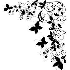 Flower And Butterfly Stencil Designs Butterfly Corner Girls Bedroom Wall Sticker Floral Wall
