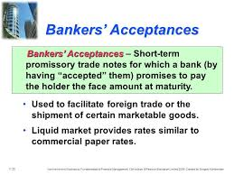 Meaning of bankers' acceptances as a finance term. Bankers Acceptance Advantages And Disadvantages