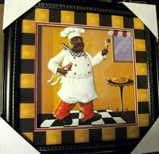 Small Picture African American Fat Chef Home Decor Kitchen Wall Art Kitchen
