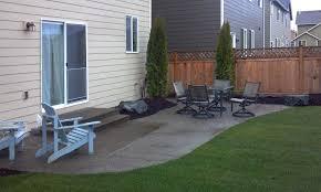 aggregate concrete patio extension