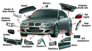 parts of a car body exterior and doors