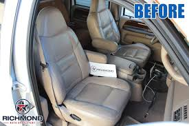 2001 ford f 250 lariat perforated leather seat cover driver side complete set tan