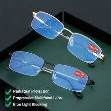 Progressive Lenses Blue Light Best Deal E69f6 1 0 4 0 Ultralight Memory Titanium
