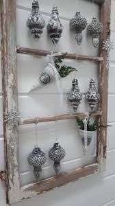 Chic Antique Glas Baumbehang Zapfen Antik Silber