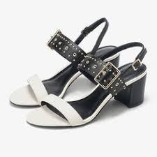 <b>KATELVADI Sandals Summer</b> Fashion White PU Leather Square ...