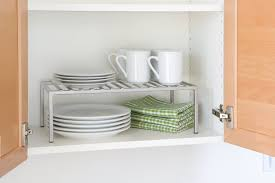 kitchen cabinet stacking shelf live simply by annie rh livesimplybyannie com kitchen cupboard stacking shelves