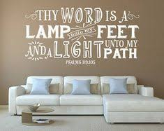 Psalm 119 <b>Bible</b> Verse <b>Wall Decal</b> - <b>Christian</b> Sayings- <b>Scripture</b> ...