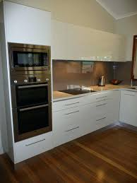 double oven microwave combo. Double Oven Plus Microwave Combination Gloss White Kitchen L Shape Layout And Tower Unit Combo