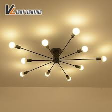best vintage iron ceiling lights loft ceiling light wrought iron luminaria e27 bulb 90 265v for home lighting fixtures lampara under 93 33 dhgate com