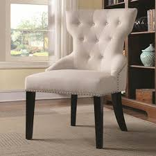 beige accent chair. Beautiful Beige Coaster Furniture Tufted With Silver Nailhead Trim Beige Accent Chair Intended