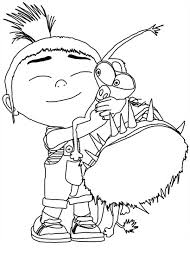 Small Picture Agnes Hugging Grus Dog Despicable Me Coloring Page NetArt