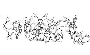 Bello Immagini Pokemon Evoluzioni Eevee Disegni Da Colorare