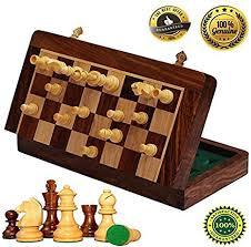 Handmade Wooden Board Games Best Amazon BKRAFT32U Handmade Wooden Rosewood Foldable Magnetic