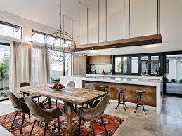 open concept kitchens and living spaces