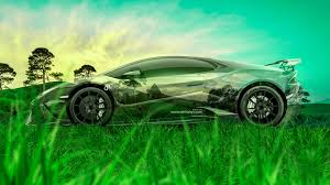 lamborghini huracan crystal nature winter car