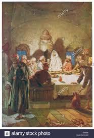 L Ultima Cena : Gesù congeda Giuda Foto stock - Alamy