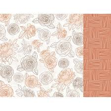 kaisercraft peachy collection 12 x 12 double sided paper honey flower