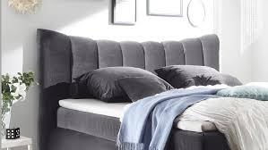 Boxspringbett Seward Schlafzimmer Bett In Grau Mit Topper 180x200