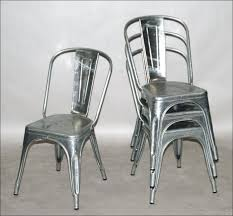 galvanised steel chairs stackable metal chair design ideas with galvanized designs 10