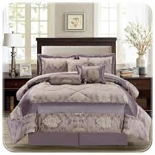 luxury jacquard 7 piece mauve bedding