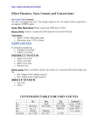 Pdf Textile Calculation Different Formulas Of Textile