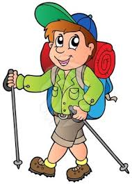 Image result for hiking cartoon