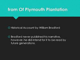 collection exploration and settlement coming to america ppt  from of plymouth plantation