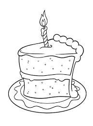 Small Picture Pictures Slice Of Cake Birthday Coloring Pages Spanish This