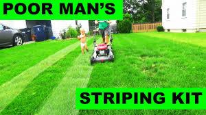 the poor man s free lawn striping kit