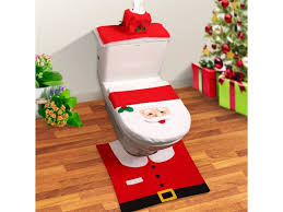santa toilet seat cover set image for gallery