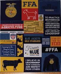 Ffa Quotes Amazing 48 X 48 Panel FFA Future Farmers Of America Forever Blue Words