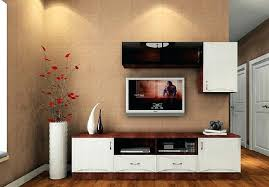 home interior design unit unique beautiful stylish cabinet and flower vase simple tv for living room