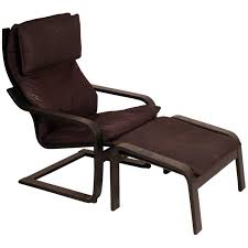 the poäng chair with footstool
