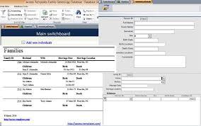 Microsoft Office Access Templates Microsoft Access Family Tree Genealogy History Templates Database