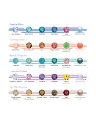 Suggested Color Combos For Swarovski Crystals And Pearls