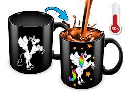 Our bigmouth inc 20 oz coffee mug will get big laughs. Heat Sensitive Color Changing Coffee Mug Funny Coffee Cup Black Unicorn Design Funny Gift Idea Cortunex The Best Color Changing Heat Sensitive Coffee Mugs