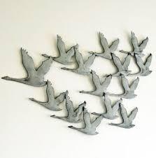 image is loading vintage style large metal flying geese wall art on flying geese wall art metal with vintage style large metal flying geese wall art 7436127563549 ebay