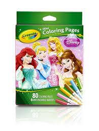 Small Picture Amazoncom Crayola Crayola Mini Coloring Pages Disney Princess