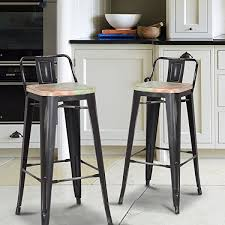 distressed metal bar stools. interesting stools for a touch of country class add these high bar stoolstyle chairs to your  kitchen basement bar dining room or any other room that needs bit shine  to distressed metal bar stools h