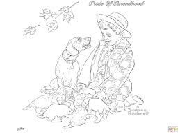 Pride Coloring Pages Pride Of Parenthood By Norman Rockwell Coloring Page Free