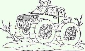 Crazy Train Monster Truck Coloring Page Download Print Online